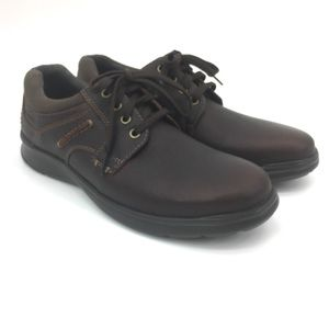 Clarks Men's Brown Leather Lace Up Oxfords